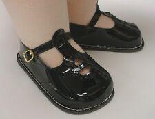 """Monique DOLL Shoes Fits - 36"""" Patti Playpal, 32"""" Saucy - BLACK Patent T-Straps"""