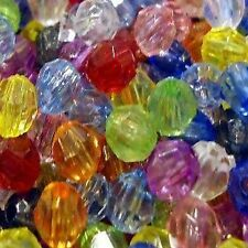 50g of Acrylic Plastic Faceted Round Beads - K5219 / 8mm