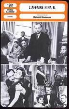 L'AFFAIRE NINA B - Tiller,Brasseur (Fiche Cinéma) 1961 - The Nina B. Affair