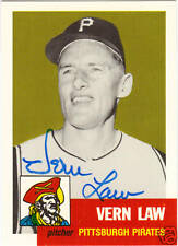 1953 Topps ARCHIVE #324 VERN LAW signed card