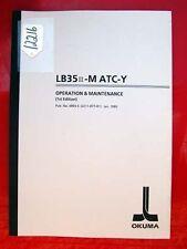 Okuma Lb35 Ii-Matc-Y Operation & Maint. Manual: Pub No. 3893-E (Inv. 12216)