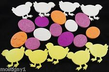 Kids Crafts - Easter/Spring Eggs & Chicks Thick Foam Glitter Stickers