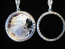 Walking Liberty One Ounce Coin Holder & Pendant, Sterling Silver