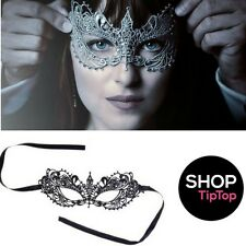 Fifty Shades Darker - Luxury Black Lace Venetian Masquerade Eye Mask - Role Play