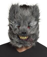 Horror Grey Werewolf Mask Wolf Halloween Killer Animal Adult Fancy Dress Zombie