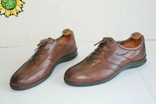 New ECCO Shock Point Comfort Men's Oxford Shoes Brown Leather Size 41.