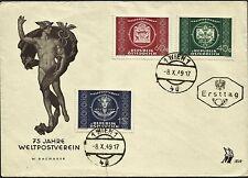 AUSTRIA, FDC, YEAR 1949, 75 YEARS POSTAL UNION, GOOD PIECE