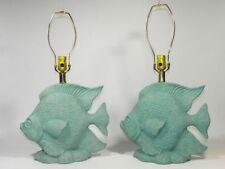 Vintage Ceramic Fish Lamp Pair
