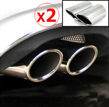 2PC FOR AUDI A4 Q5 A1 A3 CHROME EXHAUST TAILPIPE TAIL PIPE TIP MUFFLER END TRIM