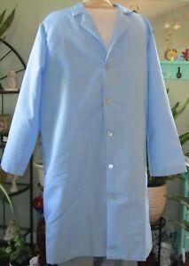 """Best Medical Men L/S Lab Coat 42"""" Light Blue Size L & 2X"""
