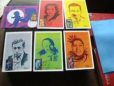 FRANCE - 6 cartes 1er jour 17/9/1994 (personnages celebres) (cy45) french