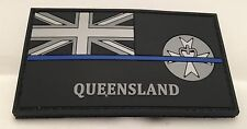 Thin Blue Line, QLD Police Rubber Patch, State Flag, Hook Rear, TBL