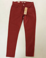 Levi's 710 Jeans Supper Skinny Women Pants Brick Brown NEW NWT 30 $60