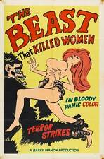 THE BEAST THAT KILLED WOMEN Movie POSTER 27x40