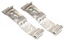 2 x Oblong Number Plate Holder Quick Release Spring Loaded Clips