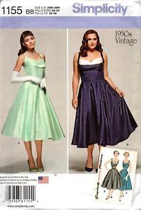 Simplicity Sewing Pattern 1155 Women's 1950s Vintage Dress Size 20w-28w