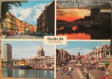Irish Postcard DUBLIN MULTIVIEW Four Courts Custom House O'Connell Hinde 4x6