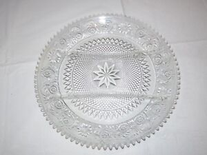 """Vintage Tiara Indiana Glass Clear Sandwich 3 Part Divided Relish 12"""" Tray ~"""