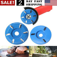 US 3/6 Teeth Power Wood Carving Cutter Disc Milling Attachment for Angle Grinder