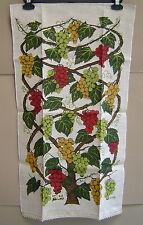 New listing Nwt Vintage Kay Dee Handprint Tea Towel Grapevine Linen 30 x 17 Lois Long