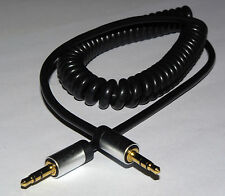 Cable Power Coiled Cable 3.5mm Mini Stereo Jack Plug to Jack Plug Lead 1.5m