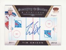 2011-12 Crown Royale Tim Erixon Scratching The Surface Autograph # 13 (11-12)