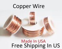 Copper Wire Round (Dead Soft) Sizes 10,12,14,16,18,20,22,24,26,28,30 Ga