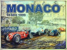 Race track GP Racing Cars Monaco Grand Prix Classic/Vintage, Large Metal Sign