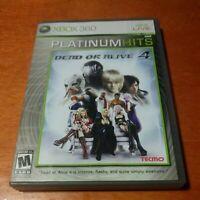 Dead or Alive 4 Platinum Hits Microsoft Xbox 360 Tecmo Team Ninja Mature