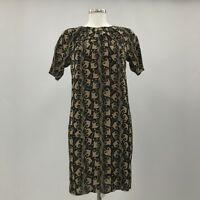 MARNI Black Brown Dress Open Back Pattern Print Any Occasion Women Size M 37674