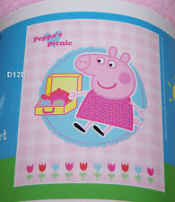 Peppa Pig Girls Pink Printed Polar Fleece Throw Rug Blanket 127cm x 152cm New