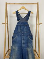 VTG 50s 60s Lee Union Made Faded Distressed Work Bib Overalls *SEE MEASUREMENTS