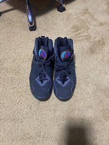 Nike Air Jordan VIII 8 Retro Aqua 2007 Sz 10.5 305381-041 Black Blue Purple Teal