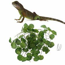 Artificial Vine Reptile Terrarium Box Habitat Decors Lizard Fake Plant Leaves