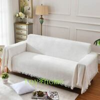 Hot White Sofa Towel Cotton Linen Fabric Jacquard Single Double Three-seat Cover
