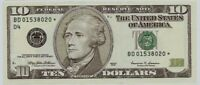 2 Consecutive Serial ## GEM Star FR-2033-D* 1999 $10 Federal Reserve Notes