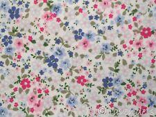 0,5 m tela Algodón Flores de verano azul claro rosa fucsia Florencia Eco-tex