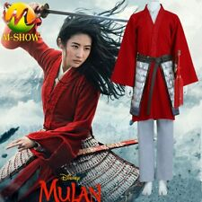 Movie Mulan Cosplay Costume Women Princess Dresses Halloween Costumes for Adult