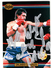 Boxer Champ Orlando Canizales Hall of Fame 1991 Ringside SIGNED CARD AUTOGRAPHED
