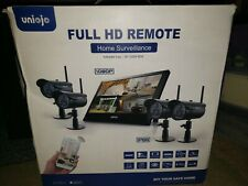 Wireless Home Security Surveillance System Uniojo model#8122HE4- FULL HD!!
