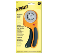 Olfa 60mm Ergonomic Rotary Cutter with Retractable Blade - RTY-3 - 9655 - New