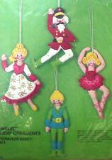 NUTCRACKER SWEET Bucilla Felt Applique Holiday Christmas Ornament Craft Kit,3387