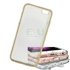 For Apple iPhone 6 Slim Anti-Dust Phone Case - Gold Transparent