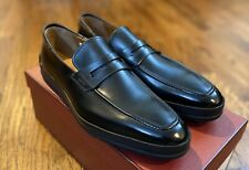Bally Relon Mens Black Calf Shoes Penny Loafers Hybrid Size 9.5 US NIB