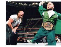 WWE ECW HORNSWOGGLE AUTOGRAPH AUTOGRAPHED SIGNED 8X10 PHOTO W/ TRIPLE H HHH