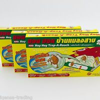 1-5 box New Ars Hoy Hoy Easy Safe Non-Toxic Insect Cockroaches Glue Trap