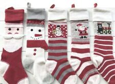 Pottery Barn Kids Knit Stockings (lot of 5), NEW Without Tags -Red, Cream