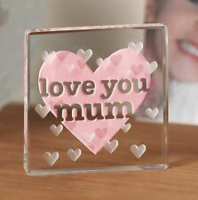 Love You Mum Spaceform Token Birthday Gift ideas for Her & Mother & Mom 0964