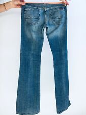 7 For All Mankind Boy Cut Leg Blue Maternity Jeans Full Belly Panel 25x32