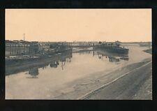 WW1 Zeebruge Belgium The Blockships in the Canal 1918 PPC